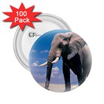 Animals Elephants Lonely But Strong 2.25  Button (100 pack)