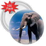 Animals Elephants Lonely But Strong 3  Button (100 pack)