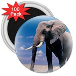 Animals Elephants Lonely But Strong 3  Magnet (100 pack)