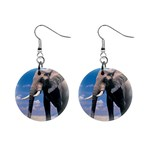 Animals Elephants Lonely But Strong 1  Button Earrings