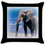 Animals Elephants Lonely But Strong Throw Pillow Case (Black)