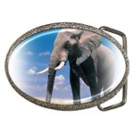 Animals Elephants Lonely But Strong Belt Buckle