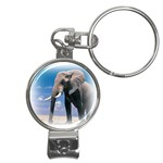 Animals Elephants Lonely But Strong Nail Clippers Key Chain
