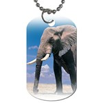 Animals Elephants Lonely But Strong Dog Tag (Two Sides)