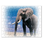 Animals Elephants Lonely But Strong Jigsaw Puzzle (Rectangular)