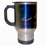 Animals Elephants Lonely But Strong Travel Mug (Silver Gray)