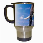 Animals Elephants Lonely But Strong Travel Mug (White)