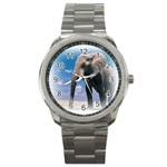Animals Elephants Lonely But Strong Sport Metal Watch