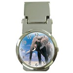 Animals Elephants Lonely But Strong Money Clip Watch