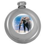 Animals Elephants Lonely But Strong Hip Flask (5 oz)