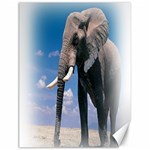 Animals Elephants Lonely But Strong Canvas 12  x 16