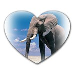 Animals Elephants Lonely But Strong Mousepad (Heart)