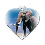 Animals Elephants Lonely But Strong Dog Tag Heart (Two Sides)