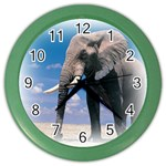 Animals Elephants Lonely But Strong Color Wall Clock