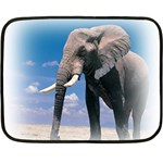 Animals Elephants Lonely But Strong Mini Fleece Blanket(Two Sides)