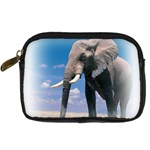Animals Elephants Lonely But Strong Digital Camera Leather Case