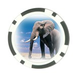 Animals Elephants Lonely But Strong Poker Chip Card Guard (10 pack)