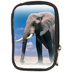Animals Elephants Lonely But Strong Compact Camera Leather Case