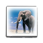 Animals Elephants Lonely But Strong Memory Card Reader with Storage (Square)