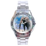 Animals Elephants Lonely But Strong Stainless Steel Analogue Men's Watch