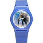Animals Elephants Lonely But Strong Round Plastic Sport Watch Small