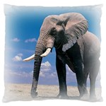 Animals Elephants Lonely But Strong Large Cushion Case (Two Sides)