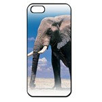 Animals Elephants Lonely But Strong Apple iPhone 5 Seamless Case (Black)