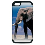 Animals Elephants Lonely But Strong Apple iPhone 5 Hardshell Case (PC+Silicone)