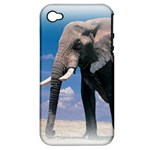 Animals Elephants Lonely But Strong Apple iPhone 4/4S Hardshell Case (PC+Silicone)