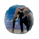 Animals Elephants Lonely But Strong 15  Premium Round Cushion