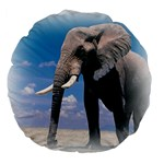Animals Elephants Lonely But Strong 18  Premium Round Cushion