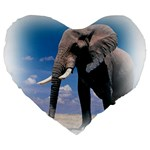 Animals Elephants Lonely But Strong 19  Premium Heart Shape Cushion