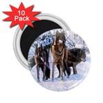 Animal Wolf Family Love 2.25  Magnet (10 pack)