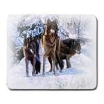 Animal Wolf Family Love Large Mousepad