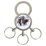 Animal Wolf Family Love 3-Ring Key Chain