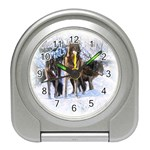 Animal Wolf Family Love Travel Alarm Clock