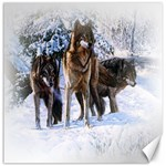 Animal Wolf Family Love Canvas 12  x 12