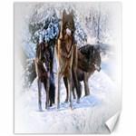 Animal Wolf Family Love Canvas 16  x 20