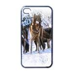 Animal Wolf Family Love Apple iPhone 4 Case (Black)