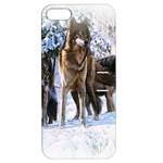 Animal Wolf Family Love Apple iPhone 5 Hardshell Case with Stand