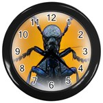 Animal Oil Beetle Wall Clock (Black)
