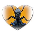 Animal Oil Beetle Mousepad (Heart)