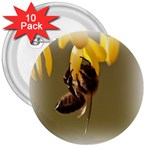 Bee Hard Work 3  Button (10 pack)