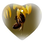 Bee Hard Work Heart Ornament (Two Sides)