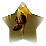 Bee Hard Work Star Ornament (Two Sides)