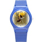 Bee Hard Work Round Plastic Sport Watch Small