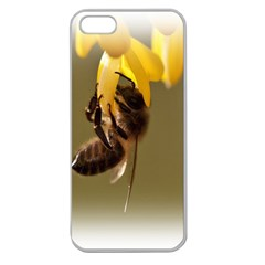 Bee Hard Work Apple Seamless iPhone 5 Case (Clear) from DesignYourOwnGift.com Front