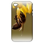 Bee Hard Work Apple iPhone 4/4S Hardshell Case (PC+Silicone)