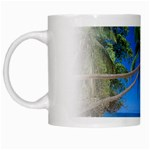 Beach Palm Trees Stretching Out For Love White Mug
