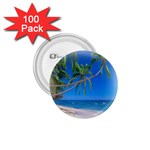 Beach Palm Trees Stretching Out For Love 1.75  Button (100 pack)